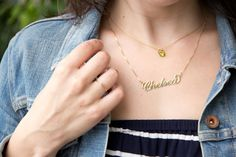 Style // Name Necklace | Lovely Indeed