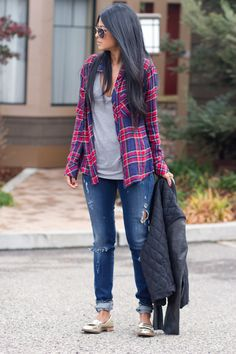 Rails+Plaid+Shirt-Citizens+Of+Humanity+Skinny+Jeans-+In+My+Air+Quilted+Jacket+-Shoemint+Loafers-236.jpg 682×1,023 pixels
