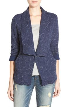 Caslon® Roll Sleeve Knit Blazer (Regular & Petite) available at #Nordstrom