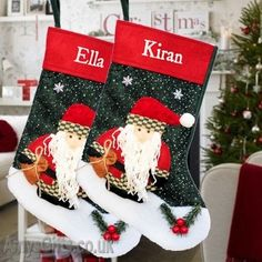 Handmade Personalised Boxed Family Christmas Stocking Card Any Names /& Message