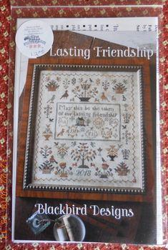 Lasting Friendship by Blackbird Designs. Exclusive design for Shepherd's Bush Cross Stitch Samplers, Cross Stitching, Cross Stitch Embroidery, Cross Stitch Patterns, Blackbird Designs, Needlework, Friendship, Crafts, Sewing