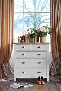 Introducing the Portland Grey Range from The Cotswold Company. Click through… Bedroom Inspiration, Bedroom Ideas, Bedroom Decor, Modern Country Style, Country Interior, Dresser As Nightstand, Bedroom Storage, Beautiful Bedrooms, Portland