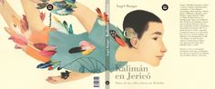 """Cover and back cover for the book """"lKalimán en Jericó by Angel Burgas Publishing house BAMBÚ"""