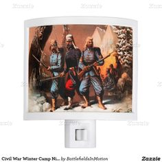 Civil War Winter Camp Night Light