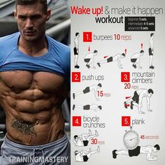Fitness hacks, fitness workouts, morning ab workouts, hiit workouts for men, easy Fitness Hacks, Fitness Workouts, Life Fitness, Fitness Motivation, Abs Workout Routines, Gym Workout Tips, Easy Workouts, Workout Videos, Mens Fitness