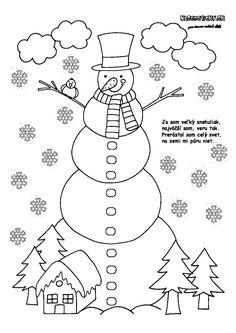 Snehuliak - omaľovánka