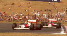 On this day in '88, in Hungary, Ayrton Senna and Alain Prost scored McLaren's 10th 1-2 finish of a truly awe-inspiring season.