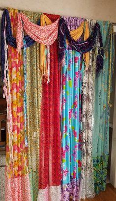 Boho Curtains Scarf Curtains Bohemian Curtains Gypsy Curtains