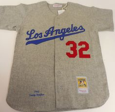 Sandy Koufax 1963 Authentic Jersey Los Angeles Dodgers Mitchell & Ness - allaccesssports365.com