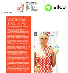 """Sharapova's sweet serve"" #sugarpova #thewest"