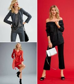 View details for the pattern Highlights: 11 Women's Sewing Patterns on BurdaStyle. Red And Grey, Needle And Thread, Diy Clothes, Sewing Patterns, Feminine, Highlights, Fabric, How To Wear, Fashion Design