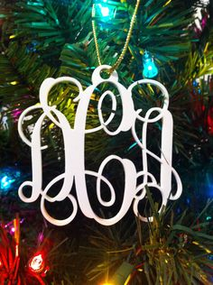 Personalized Custom Acrylic 3 Letter Monogram Our First Christmas ...