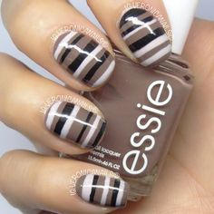 Image via Sweet flower nail art - pink & brown nails Image via Neutral nails with flowers and chevrons. Image via Polish Art Addiction: Basketball Nails they would be PERFECT Fabulous Nails, Gorgeous Nails, Pretty Nails, Nail Polish Designs, Nail Art Designs, Get Nails, Hair And Nails, Brown Nail Art, Brown Nails