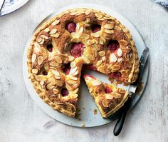 Plums and Almond Flan
