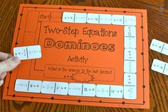 Two-Step Equations Dominoes Activity Algebra Activities, Maths Algebra, Math Resources, Teaching Math, Math Teacher, Math Games, Math Fractions, Math Lesson Plans, Math Lessons