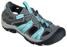 World Wide Sportsman Oasis III Water Shoes for Ladies - Grey/Turquoise | Bass Pro Shops: The Best Hunting, Fishing, Camping & Outdoor Gear