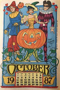 "Katy Keene ""October"" 1987 Calendar Page"