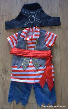 DIY Pirate Costumefor Toddlers | 25 DIY Pirate Costume Ideas, check it out at http://diyready.com/25-argh-tastic-diy-pirate-costume-ideas