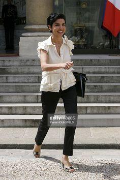 Photo d'actualité : Rachida Dati, French Justice Minister in Paris,...