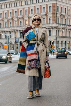 , Streetstyle на Неделе моды в Стокгольме