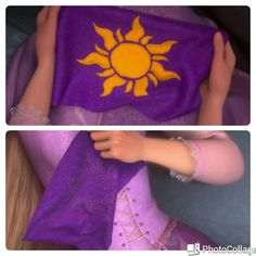 Rapunzel golden flower flag kingdom from the Disney movie Tangled, perfect for Rapunzel or Flynn Rider costume!  A screen accurate replica of Rapunzel