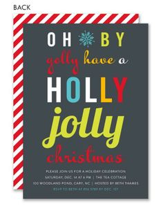 Holly Jolly Christmas Invitation
