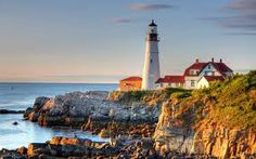 Portland Head Light, Maine discovered by Marvelous Nature Portland Lighthouse, Lighthouse Painting, Lighthouse Pictures, Rocky Shore, Light Of The World, Am Meer, Hd Picture, Wallpaper Free Download, Oregon Coast