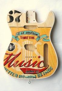 """miriam Paternoster Telecaster """"Music""""hand painted by Miriam Paternoster"""