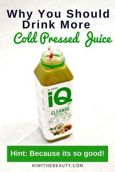 Why You Should Drink More Cold Press Juice | IQ Juice Review #coldpressjuice #greentea #juicing