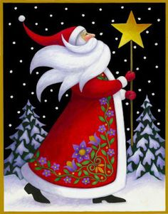 Santa and Star by Stephanie Stouffer. From the Art Needlepoint Company. $52.00