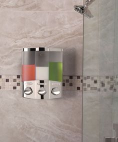 Trio Soap Dispenser | Shampoo Shower Dispenser   Bath And Shower Accessories
