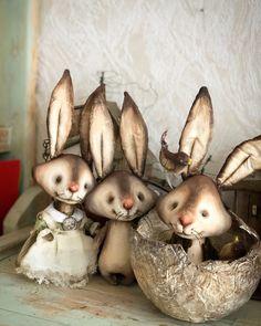 Cute Creatures, Fantasy Creatures, Rabbit Toys, Soft Sculpture, Cute Dolls, Fabric Dolls, Baby Cards, Handmade Toys, Pet Toys