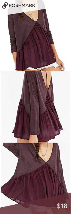 Burgundy babydoll blouse New, never worn. Tops Blouses