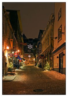 Christmas Street III - Quebec, Quebec