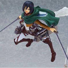 Action Figure de Mikasa Ackerman do anime Attack on Titan.