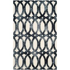 Dip Dye Ivory/Graphite (Ivory/Grey) 5 ft. x 8 ft. Area Rug