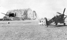 An allied pilot flying an Italian Macchi C.200 at a captured field in Italy during WW2.  According to vintagewings.ca, the pilot struck a ground crew member on his low pass.