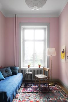 Pink, blue and red Color Pairing, Pink Room, Beautiful Moments, Sweet Home, Kids Rugs, Colours, House, Interior Design, Daybeds