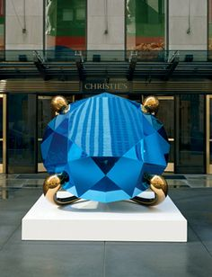 Jeff Koons - Diamond (Blue) high chromium stainless steel with transparent color coating