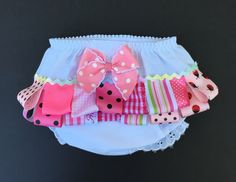 Items similar to Diaper cover with ribbons Fancy pants Bloomers Diaper cover mo size Ribbons and bow diaper cover on Etsy Baby Bloomers, Fancy Pants, Baby Bows, Ribbons, Etsy Shop, Trending Outfits, Handmade Gifts, Cover, Shopping