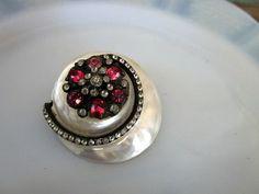 Pearl Blister With pink rhinestone flower belt by Holliezhobbiez