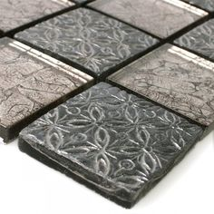glas naturstein resin mosaik fliesen silber mix - Schwarzweimosaikfliese Backsplash