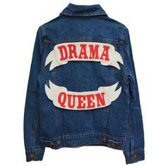 CUSTOM DENIM JACKET (4.350 UYU) ❤ liked on Polyvore featuring outerwear, jackets, tops, felt jacket, jean jacket, patch jacket, blue jean jacket and denim jacket