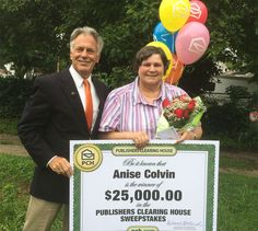 Congratulations to $25,000 winner Anise Colvin! She  got a very special visit from the Prize Patrol today when they awarded her with a $25,000 big check!