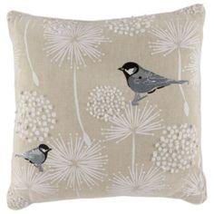 #WinterBeautyWonderland  Tesco Embroidered Bird Cushion, Multicoloured