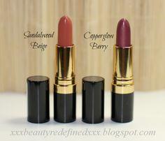 Revlon Super Lustrous Lipsticks Sandalwood Beige and Copperglow Berry