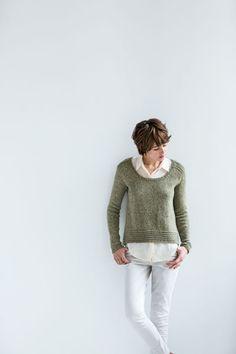 Modèle de tricot - Brooklyn Tweed Pull DEVLAN - L'échappée Laine