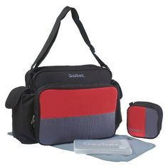 $26.99 Target : Gerber 4-in-1 Diaper Bag with Cooler - Black / Red / Grey : Image Zoom
