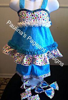 National Pageant Casual Wear Dress SUMMER WEAR . Size  18mos-2T #Handmade #DressyEverydayHoliday