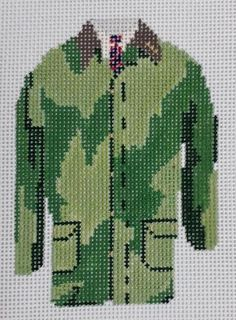 Pip & Roo # Classic Barbour Field Coat 18 mesh x 4 Handpainted Needlepoint Canvas Threads Sold Separately Needlepoint Designs, Needlepoint Canvases, Barbour Clothing, Sewing Ideas, Needlework, Cross Stitch, Mesh, Hand Painted, Embroidery